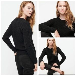 J.Crew Womens Cable Crewneck Wool Cashmere Sweater